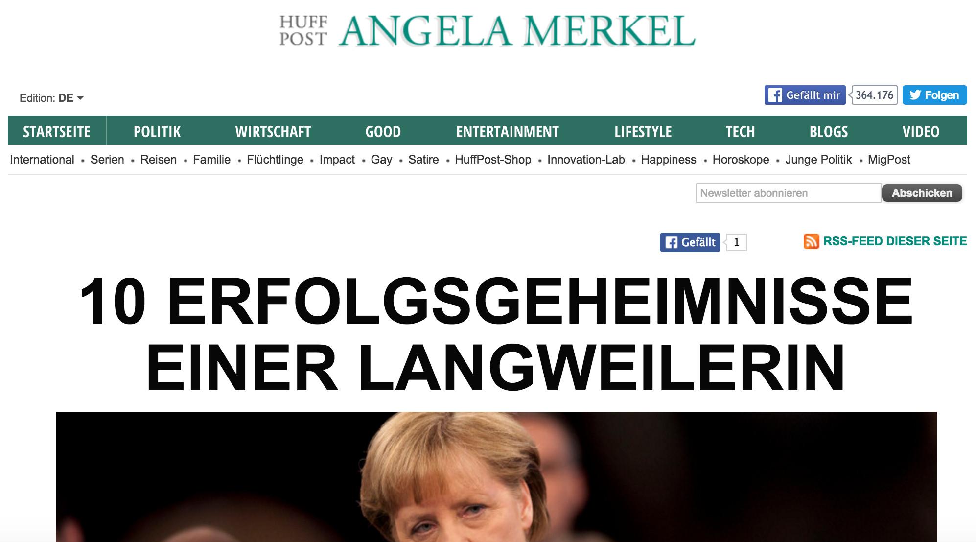 "Screenshot ""Huffington Post"""