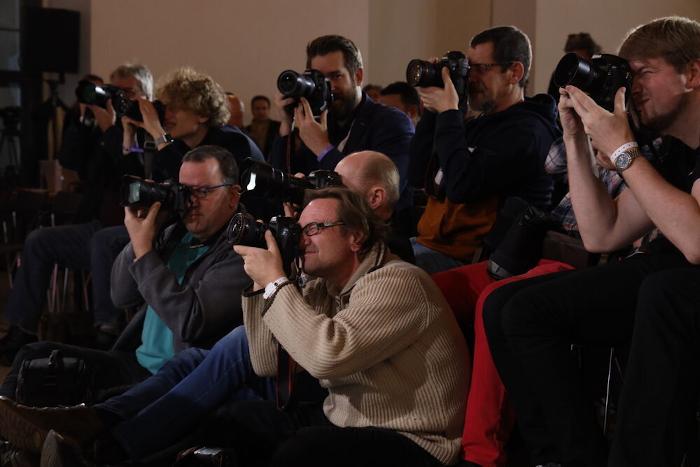 Fotografen Anfang Januar 2020 bei der Vorstellung des Regierungsprogramms in Wien