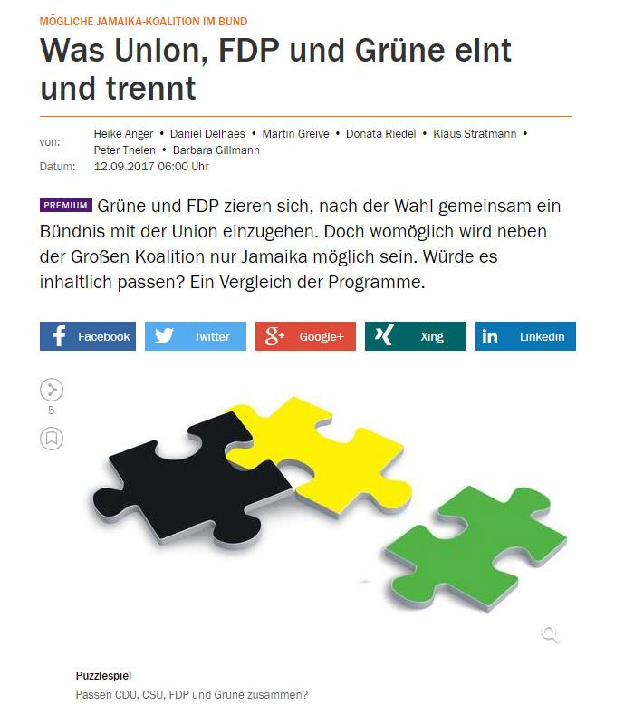 Schwarze, gelbe und grüne Puzzleteile