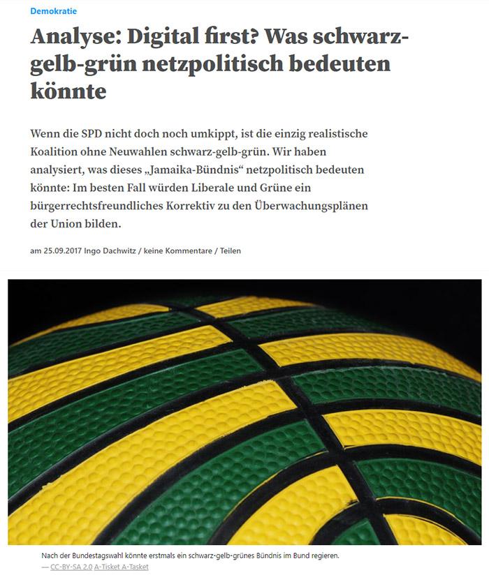 Schwarz-grün-gelber Basketball