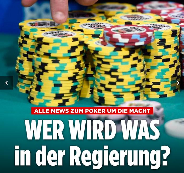 Schwarz-gelb-grüne Pokerchips