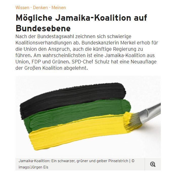 Auf Papier gemalte schwarz-grün-gelbe Flagge