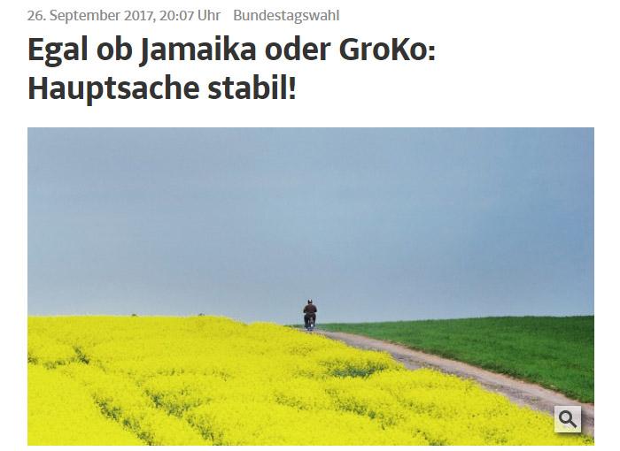 Gelbes Feld, Fahrradfahrer, grünes Feld