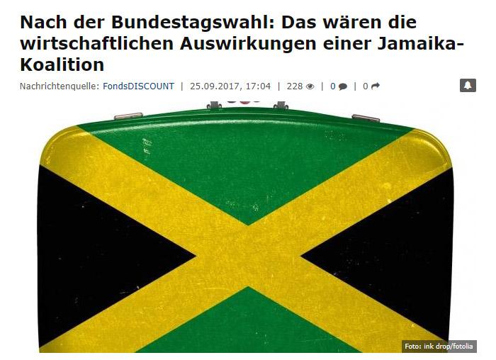 Koffer mit aufgemalter Jamaika-Flagge