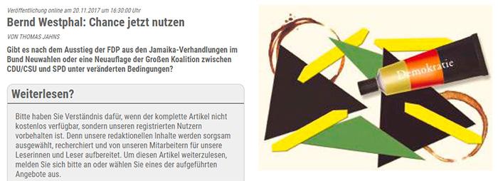 """Eine auseinanderfallende Jamaika-Flagge, dazu eine Tube Kleber in Deutschlandfarben mit der Aufschrift """"Demokratie"""""""