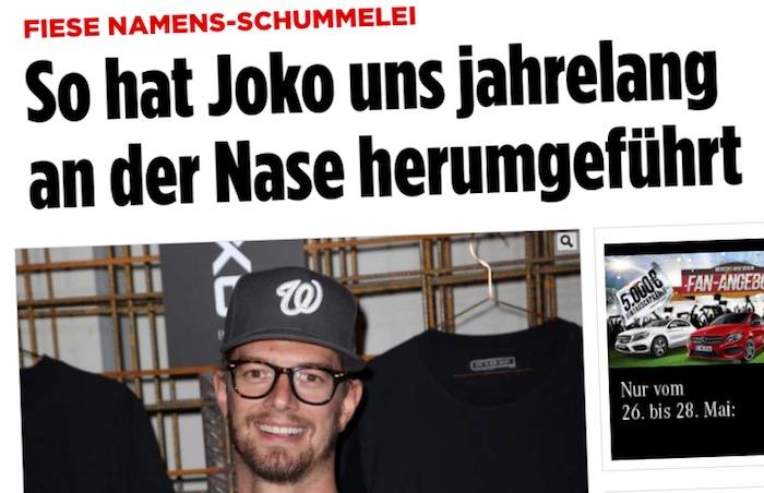 Das Schummel Outing Des Joko Joko Winterscheidt übermedien