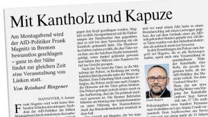 Mit Kantholz und Kapuze