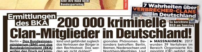200000 kriminelle Clan-Mitglieder in Deutschland!
