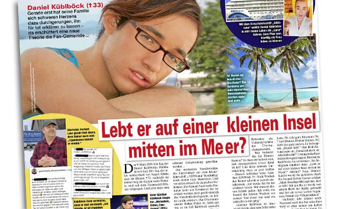 """Schlagzeile: """"Lebt er auf einer kleinen Insel mitten im Meer?"""""""