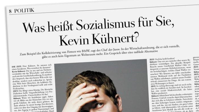 Was heißt Sozialismus für Sie, Kevin Kühnert?