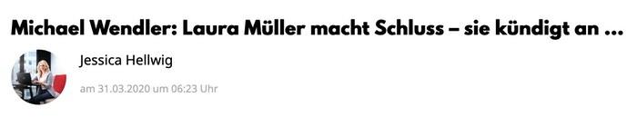 Michael Wendler: Laura Müller macht Schluss - sie kündigt an …