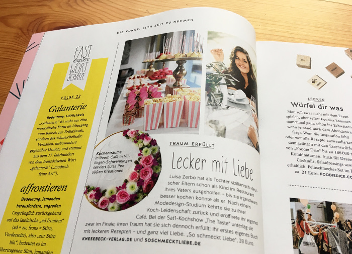 doppelseite der zeitschrift ma vie ausgabe april 2019. Black Bedroom Furniture Sets. Home Design Ideas