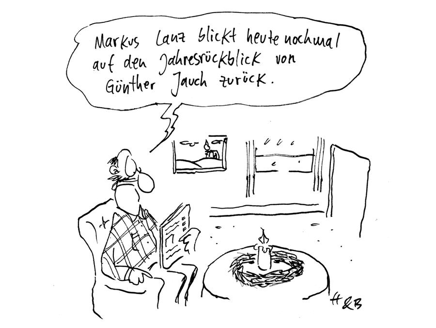 Markus Lanz blickt heute nochmal auf den Jahresrückblick von Günther Jauch zurück