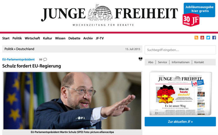 Martin Schulz (SPD) bei einer Rede
