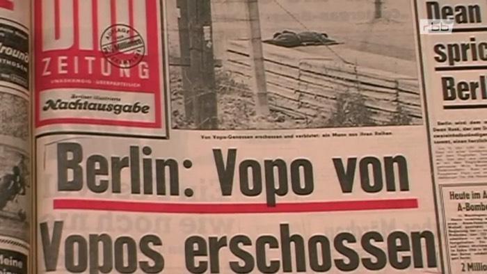 Berlin: Vopo von Vopos erschossen