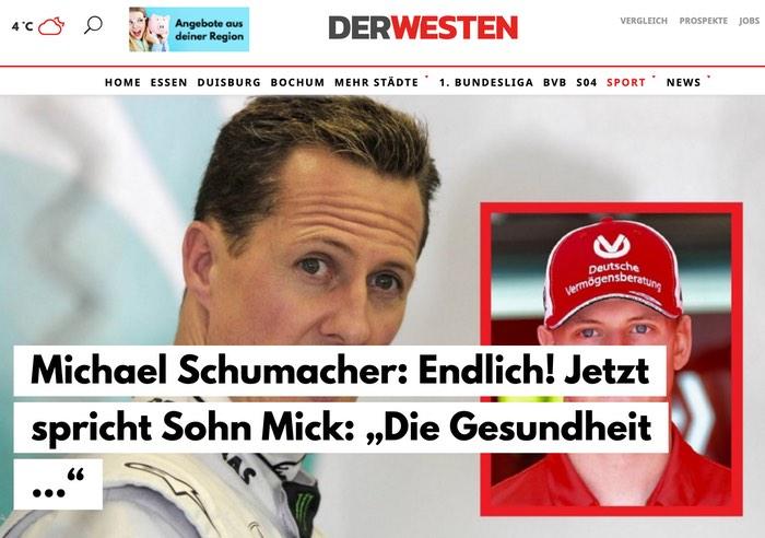 """Michael Schumacher: Endlich! Jetzt spricht Sohn Mick: """"Die Gesundheit ..."""""""