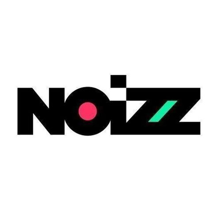 """Schwarzer Schriftzug """"NOIZZ"""", das """"O"""" ist rot ausgefüllt, der Zwischenraum zwischen den beiden """"Z"""" grün."""