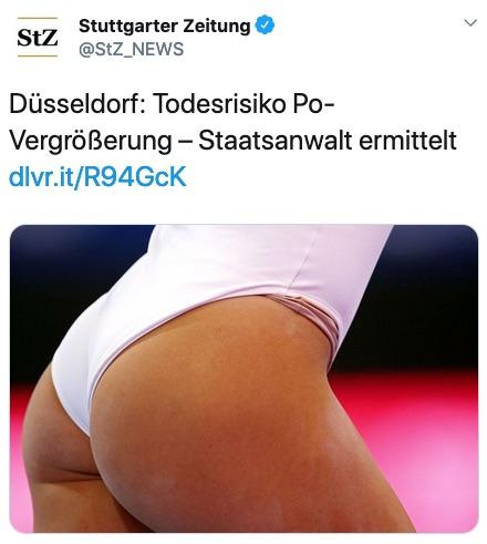 Düsseldorf: Todesrisiko Po-Vergrößerung - Staatsanwalt ermittelt