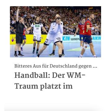 Handball: Der WM-Traum platzt im