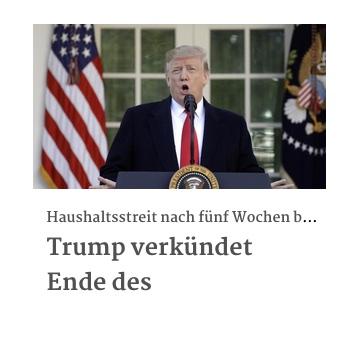 Trump verkündet Ende des