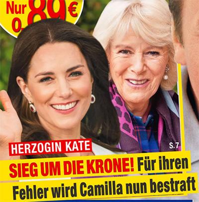 Herzogin Kate - SIEG UM DIE KRONE! Für ihren Fehler wird Camilla nun bestraft