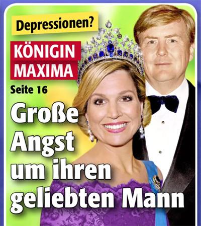 Depressionen? - Königin Maxima - Große Angst um ihren geliebten Mann