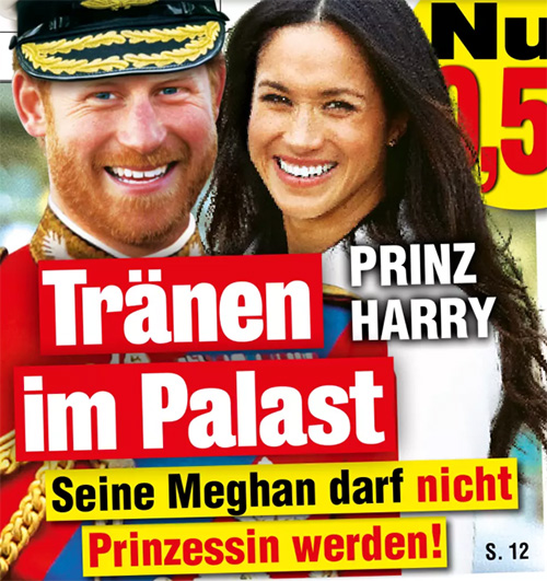 Prinz Harry - Tränen im Palast - Seine Meghan darf nicht Prinzessin werden!