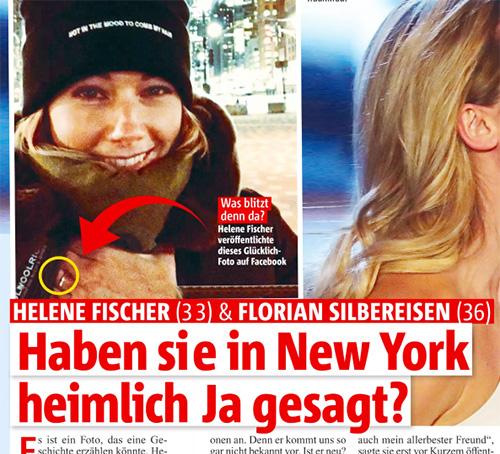 [Auf dem Foto sieht man an Helenes Finger einen Ring] Helene Fischer & Florian Silbereisen - Haben sie in New York heimlich Ja gesagt?