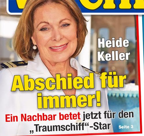"""Heide Keller - Abschied für immer! - Ein Nachbar betet jetzt für den """"Traumschiff""""-Star"""