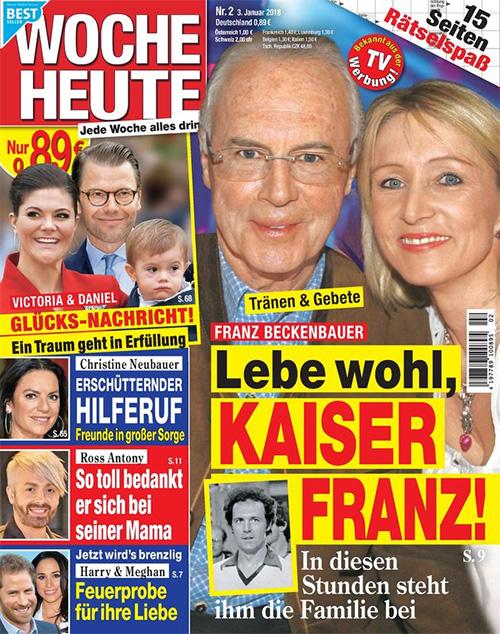 Tränen & Gebete - Franz Beckenbauer - Lebe wohl, Kaiser Franz! - In diesen Stunden steht ihm die Familie bei