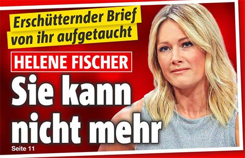 Erschütternder Brief aufgetaucht - Helene Fischer - Sie kann nicht mehr