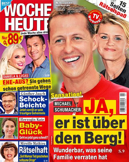 Sensation! - Michael Schumacher - JA, er ist über den Berg! - Wunderbar, was seine Familie verraten hat