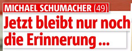 Michael Schumacher - Jetzt bleibt nur noch die Erinnerung ...