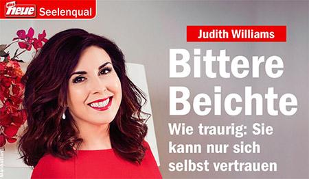 Judith Williams - Bittere beichte - Wie traurig: Sie kann nur sich selbst vertrauen