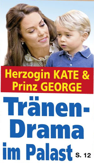 Herzogin Kate & Prinz George - Tränen-Drama im Palast