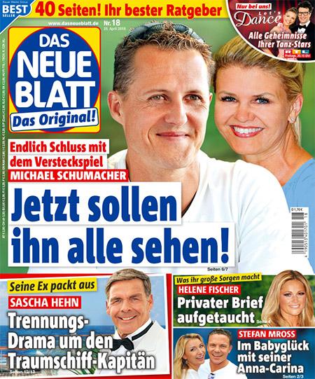 Endlich Schluss mit dem Versteckspiel - Michael Schumacher - Jetzt sollen ihn alle sehen!