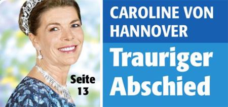 Caroline von Hannover - Trauriger Abschied