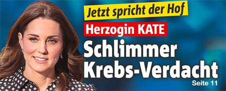 Jetzt spricht der Hof - Herzogin Kate - Schlimmer Krebs-Verdacht