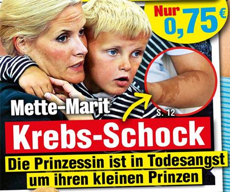 Mette-Marit - Krebs-Schock - Die Prinzessin ist in Todesangst um ihren kleinen Prinzen
