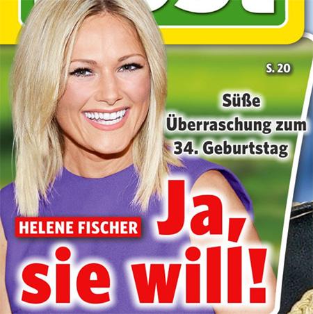 Süße Überraschung zum 34. Geburtstag - Helene Fischer - Ja, sie will!