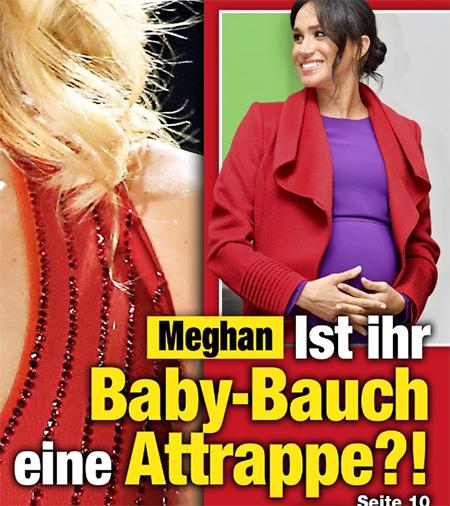Meghan - Ist ihr Baby-Bauch eine Attrappe?!