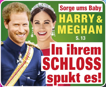 Sorge ums Baby - Harry & Meghan - In ihrem Schloss spukt es!