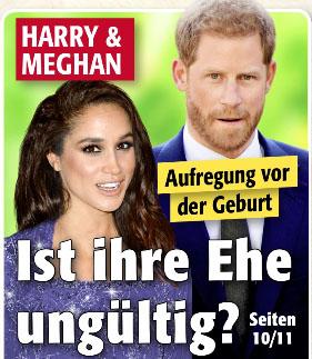 Harry & Meghan - Aufregung vor der Geburt - Ist ihre Ehe ungültig?