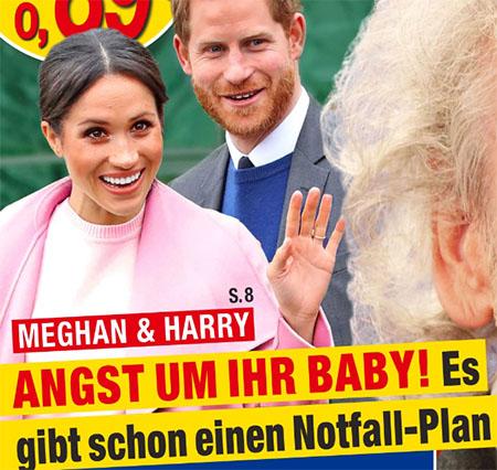 Meghan & Harry - Angst um ihr Baby! Es gibt schon einen Notfall-Plan