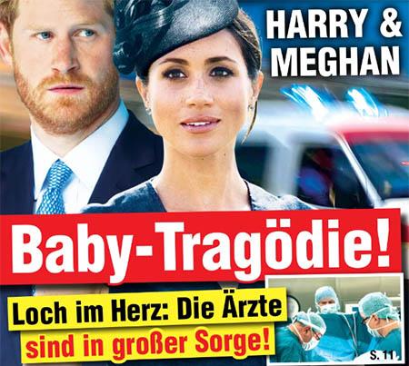 Harry & Meghan - Baby-Tragödie! - Loch im Herz: Die Ärzte sind in großer Sorge!