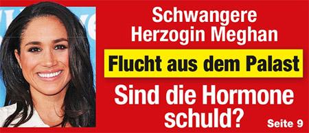 Schwangere Herzogin Meghan - Flucht aus dem Palast - Sind die Hormone schuld?