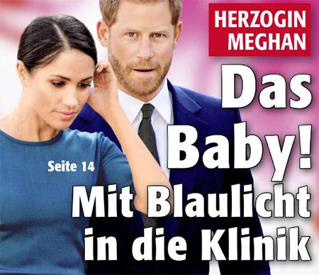 Das Baby! Mit Blaulicht in die Klinik