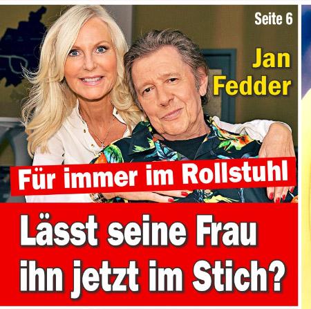 Jan Fedder - Für immer im Rollstuhl - Lässt seine Frau ihn jetzt im Stich?