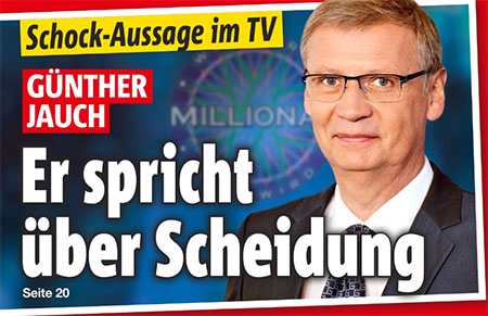 Schock-Aussage im TV - Günther Jauch - Er spricht über Scheidung
