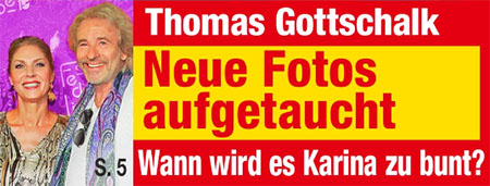 Thomas Gottschalk - Neue Fotos aufgetaucht - Wann wird es Karina zu bunt?
